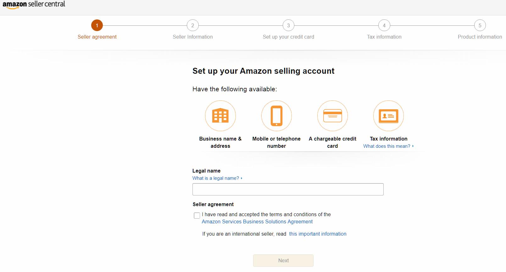 Amazon Seller Accounts